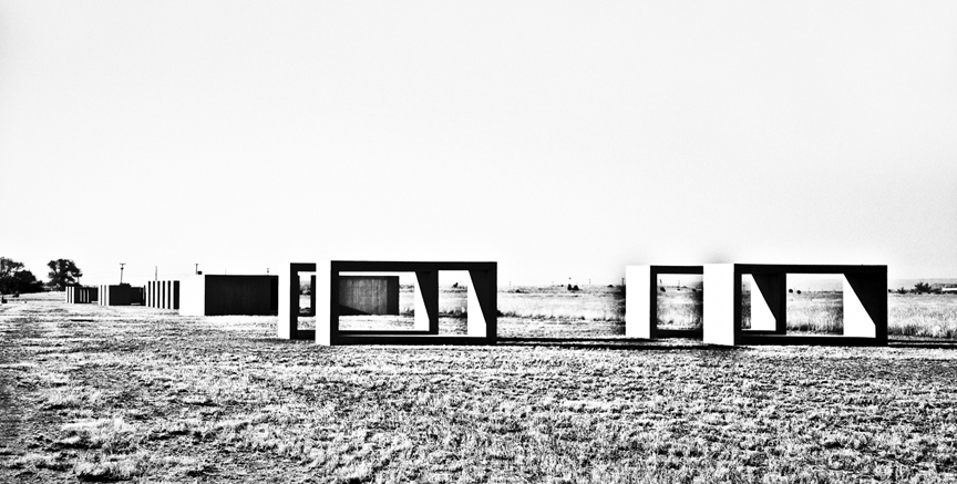 Donald Judd's concrete blocks